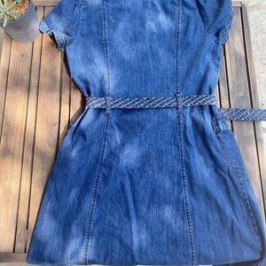 DKNY Dresses - DKNY Denim dress with braided belt | Medium